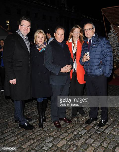 Fortnum Mason CEO Ewan Venters Viscountess Serena Linley Viscount David Linley Kate Hobhouse and guest attend the opening party of Skate at Somerset...