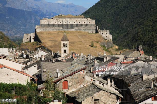 Fortress and Village of Exilles Susa Valley Piedmont Italy