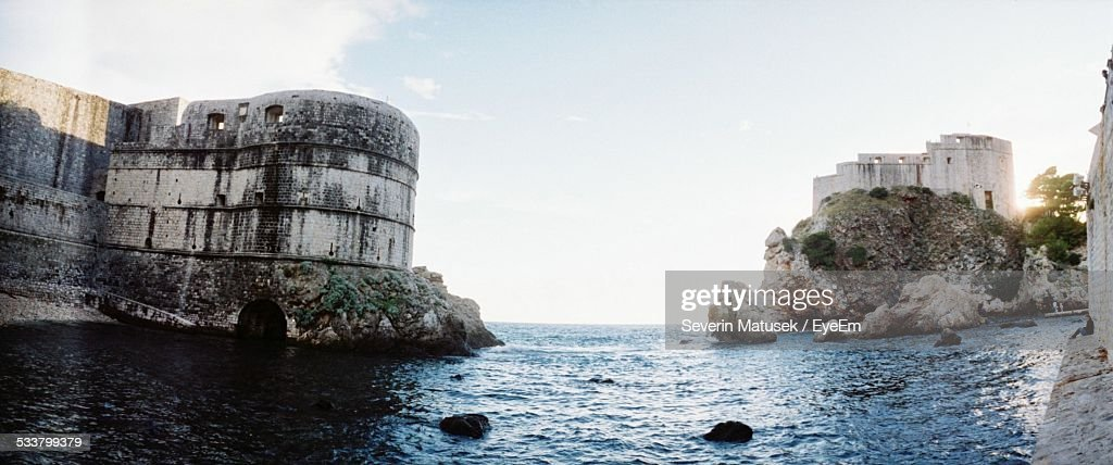 Fortress At Seaside : Foto stock