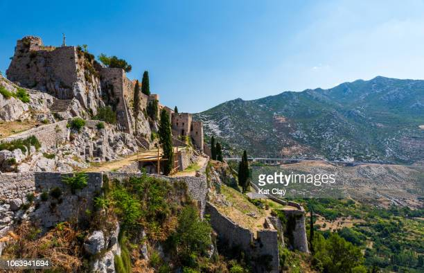 fortress of klis, croatia - croatia stock pictures, royalty-free photos & images