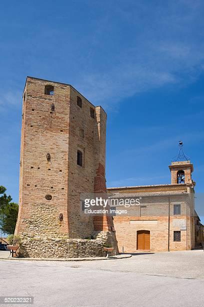 Fortress of Leone X Ripe San Ginesio Marche Italy