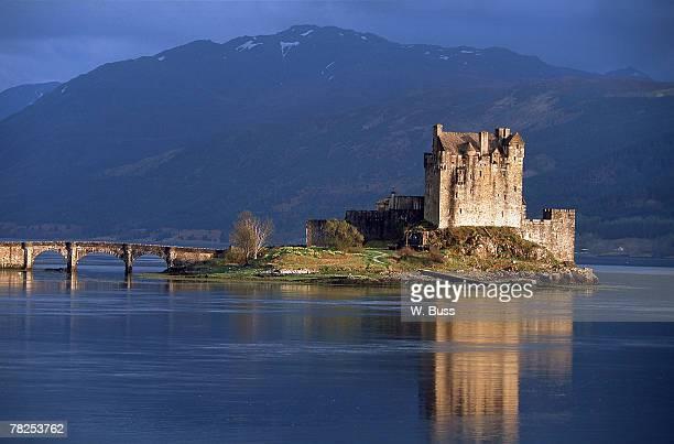 Fortress on lake , Scotland