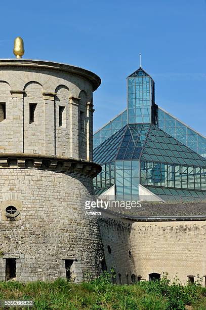 Fortress Vauban / Fort Thangen and the Grand Duke Jean Museum of Modern Art / Musee d'art moderne GrandDuc Jean / Mudam at Kirchberg Luxembourg