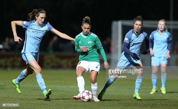 Fortuna Hjorring Women v Manchester City Women UEFA Champions League Quarter Final First Leg Bredband Nord Arena Manchester City's Jill Scott in...