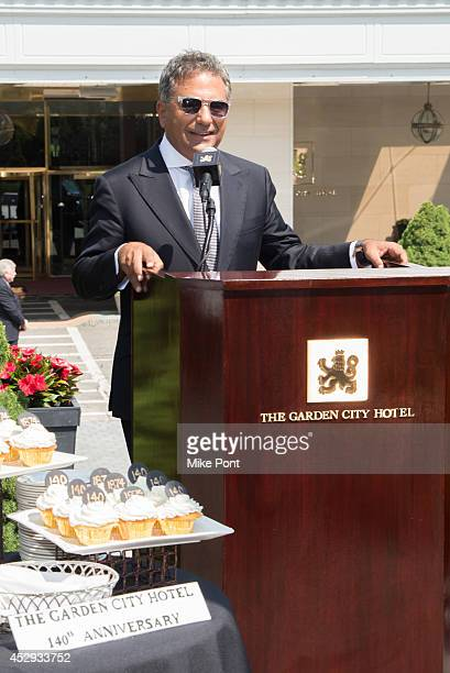 Fortuna Realty Group President Morris Moinian attends The Garden City Hotel 140th Anniversary Celebration at Garden City Hotel on July 30 2014 in...