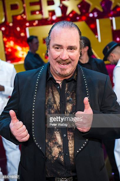 Fortunato Lacovara posing for a photo after the second Semifinal of 'Das Supertalent' TV Show on December 07 2013 in Cologne Germany