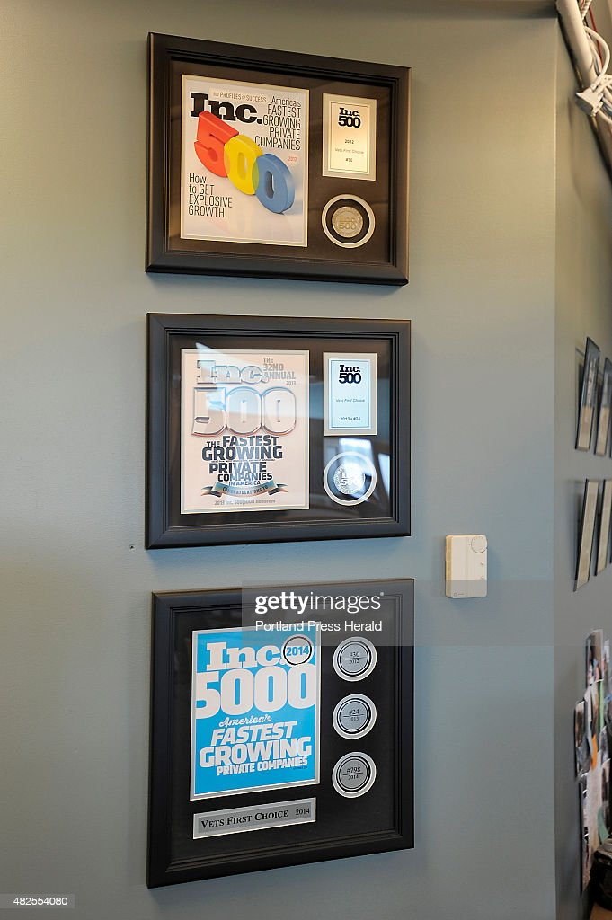 Fortune 500 Awards From The Past Three Years Hang On A Wall Of Vets