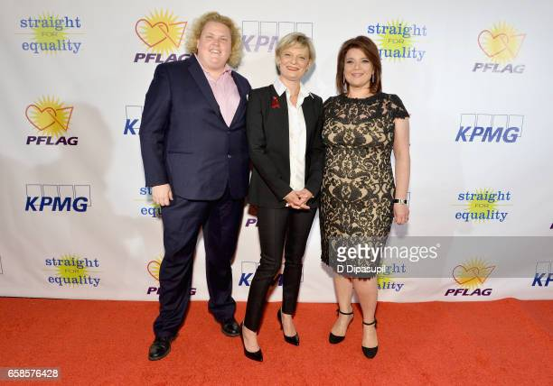 Fortune Feimster, Martha Plimpton and Ana Navarro attend the ninth annual PFLAG National Straight for Equality Awards Gala on March 27, 2017 in New...