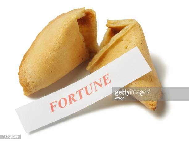 fortune in a cookie - luck stock pictures, royalty-free photos & images
