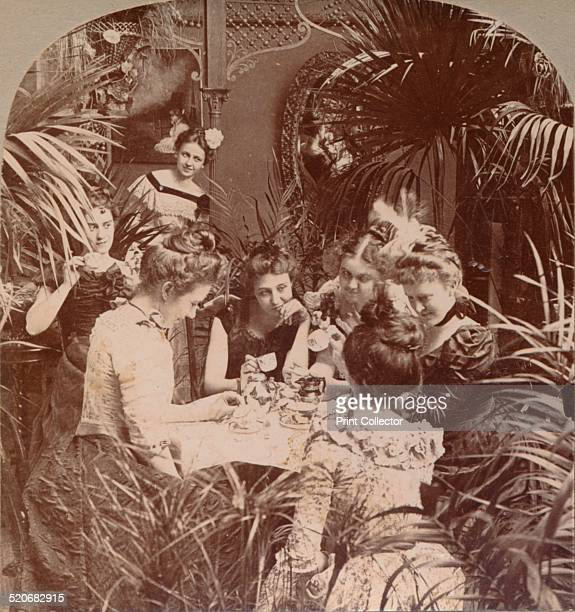 'A Fortune in a Teacup' A Victorian lady telling the fortunes of a group of ladies by reading tea leaves Tasseography is a fortunetelling method that...