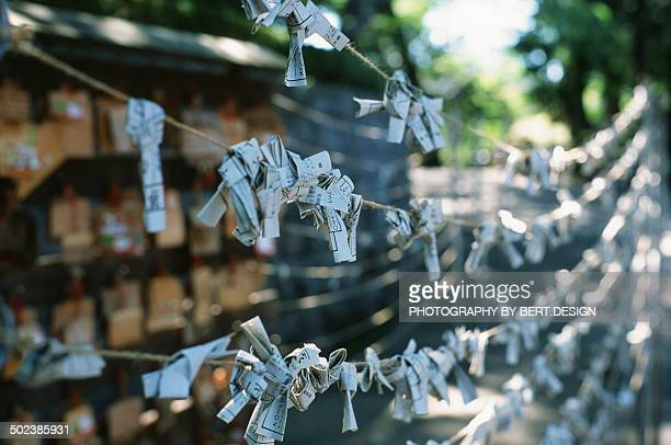 Fortune paper at kitain temple kawagoe
