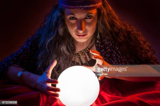 fortune teller - telepathy stock pictures, royalty-free photos & images