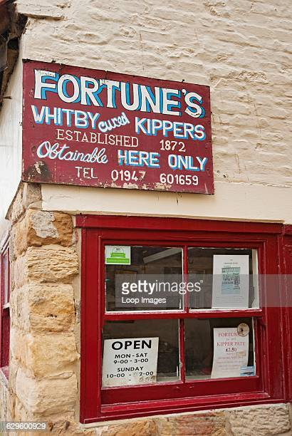 Fortune's kipper shop Whitby England