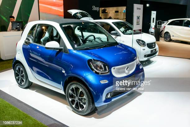 Fortwo compact hatchback city car on display at Brussels Expo on January 13 2017 in Brussels Belgium The second generation Forfour is developped...
