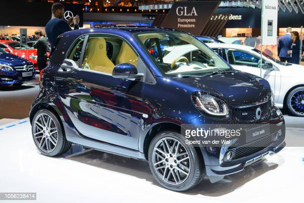 Fortwo tailor made luxury compact hatchback city car on display at Brussels Expo on January 13 2017 in Brussels Belgium The second generation Forfour...