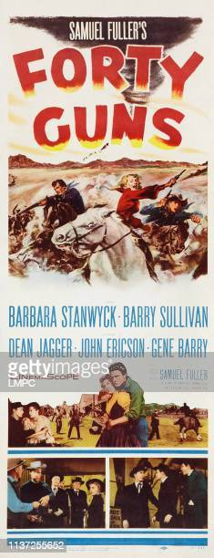 Forty Guns poster US poster art from left Barbara Stanwyck John Ericson 1957