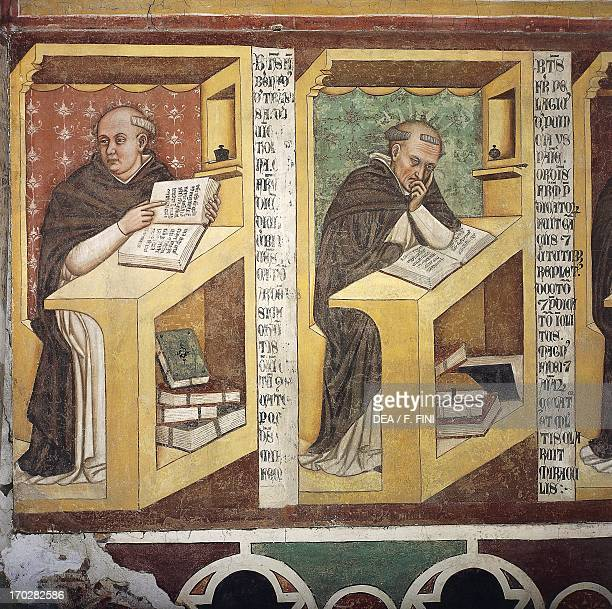 Forty Illustrious Members of the Dominican Order by Tommaso da Modena fresco Chapterhouse of the Dominicans former Convent of San Nicolo now...