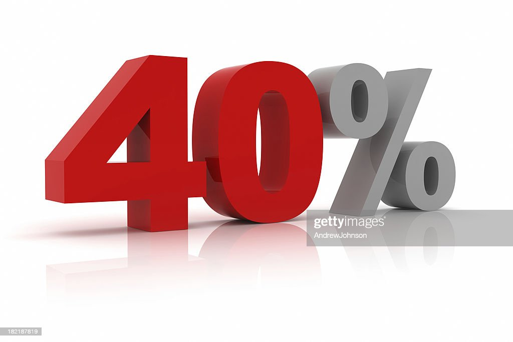 Forty Percent : Stock Photo
