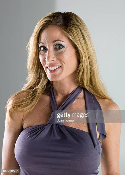 forty something and attractive - cleavage breasts stock photos and pictures