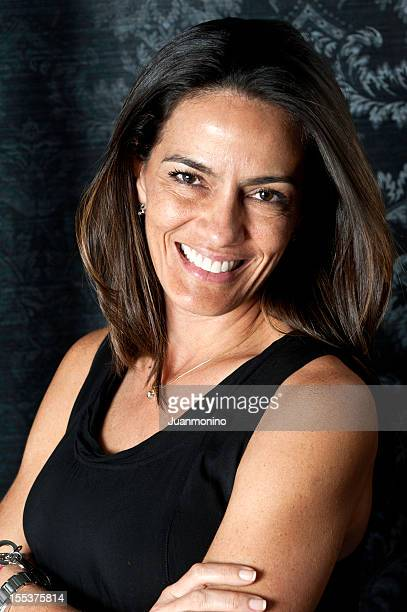 forty something hispanic  housewife - beautiful puerto rican women stock photos and pictures