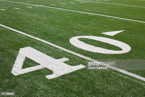 forty yard line - forty yard line stock pictures, royalty-free photos & images