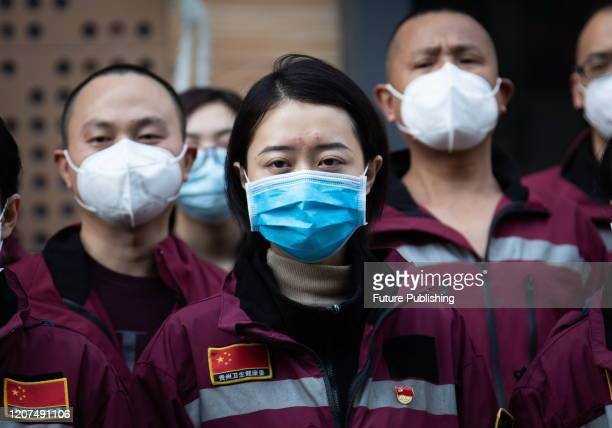 WUHAN CHINA MARCH 17 2020 Fortyone national medical teams that assisted wuhan have returned to their respective cities Wuhan City Hubei Province...