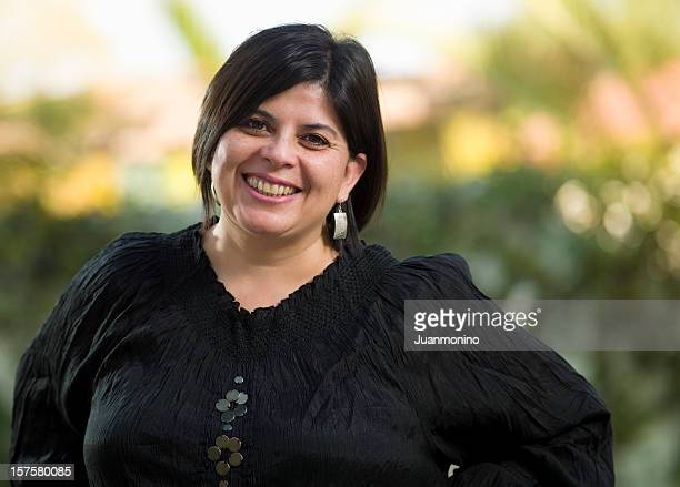 forty-something hispanic woman - chubby black women stock photos and pictures