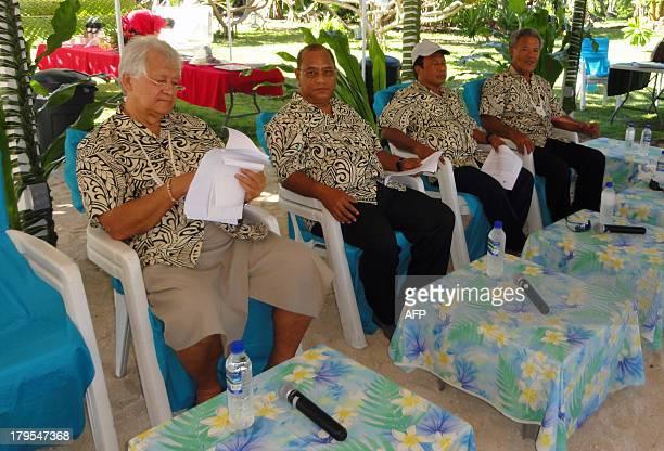 Forum leaders Forum Secretary General Tuiloma Neroni Slade Marshall Islands President Christopher Loeak Palau President Tommy Remengesau Jr and...
