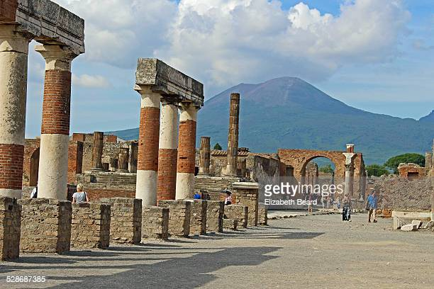 Forum of Pompeii and Mt. Vesuvius