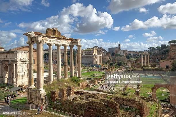 forum romanum - roman forum stock pictures, royalty-free photos & images