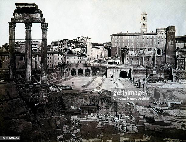 Forum Rome Italy Albumen Photograph circa 1880