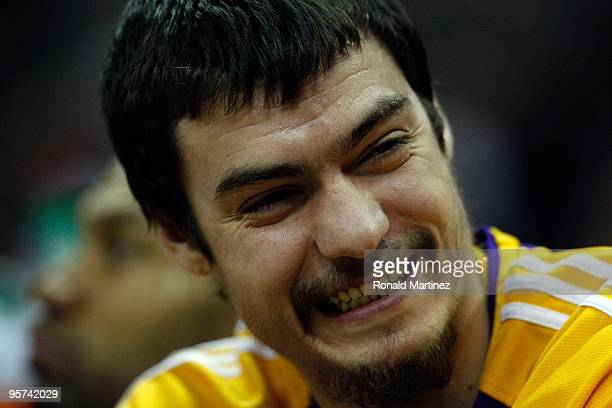 Forward Adam Morrison of the Los Angeles Lakers on January 12 2010 at ATT Center in San Antonio Texas NOTE TO USER User expressly acknowledges and...