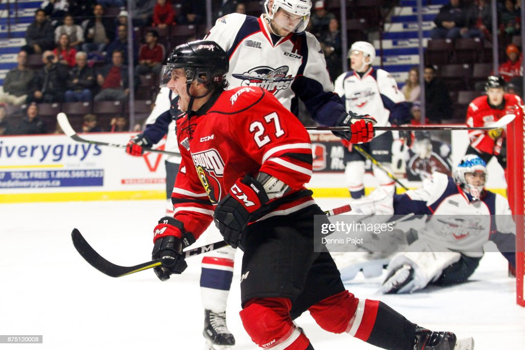 Owen Sound Attack v Windsor Spitfires : News Photo