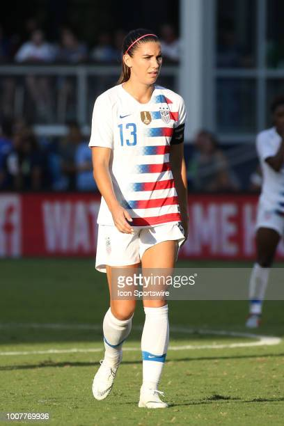USA forward Alex Morgan in the second half of a women's soccer match between Japan and USA in the 2018 Tournament of Nations on July 26 2018 at...