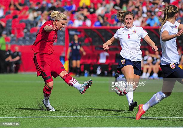 June 11 2015 Ottawa Ontario Canada June 11 2015 Forward Alexandra Popp of Germany shoots at goal during the FIFA 2015 Women's World Cup Group B match...
