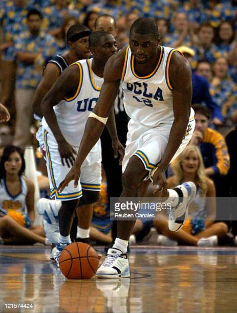 Forward Alfred Aboya of the UCLA Bruins in a 73 to 69 victory over the University of Arizona Wildcats on January 20 2007 at Pauley Pavillion in...