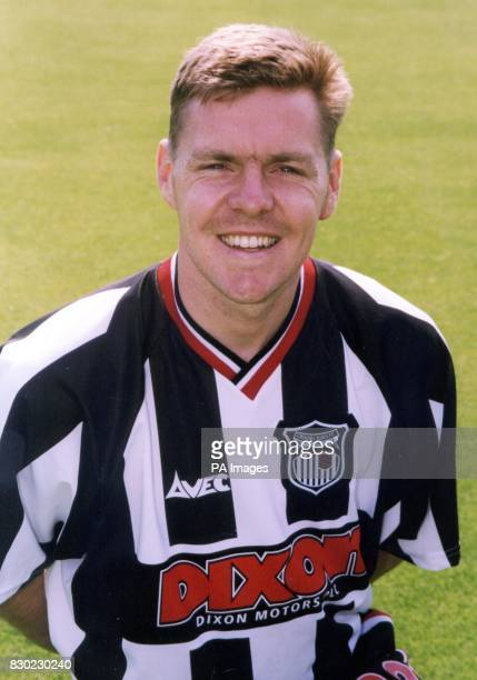 Forward Bradley Allen who plays for First Division Grimsby Town FC at Blundell Park Stadium