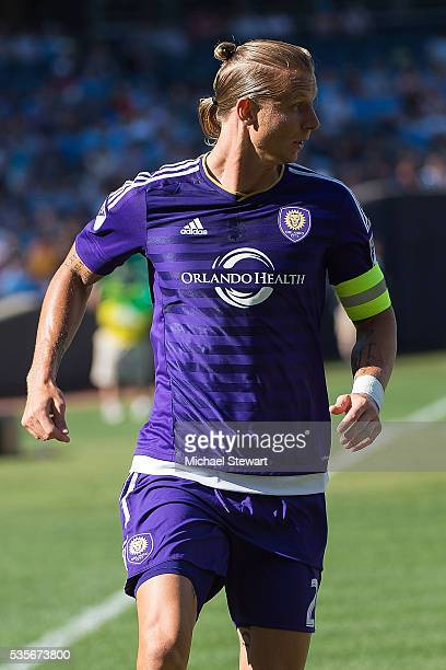 Forward Brek Shea of Orlando City FC during the match vs New York City FC at Yankee Stadium on May 29 2016 in New York City New York City FC and...