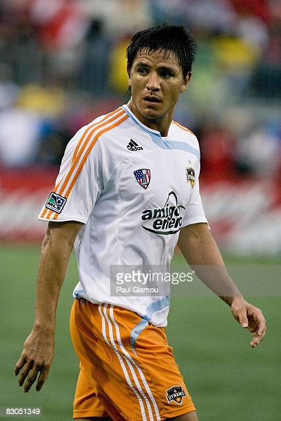 Forward Brian Ching of the Houston Dynamo follows the play during the match against Toronto FC on September 27, 2008 at BMO Field in Toronto,...
