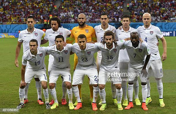 US forward Clint Dempsey US midfielder Jermaine Jones US goalkeeper Tim Howard US defender Geoff Cameron US defender Matt Besler and US midfielder...