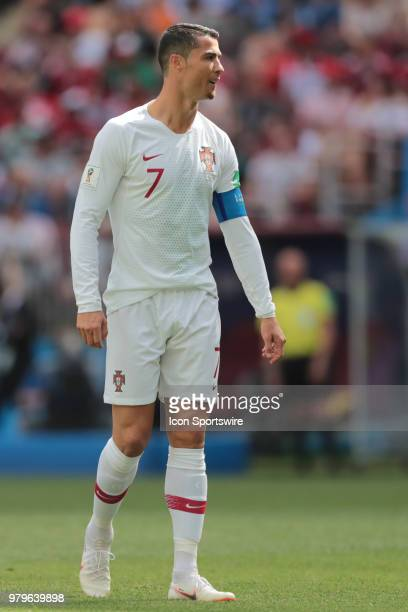 forward Cristiano Ronaldo of Portugal during a Group B 2018 FIFA World Cup soccer match between Portugal and Morocco on June 20 at Luzhniki Stadium...