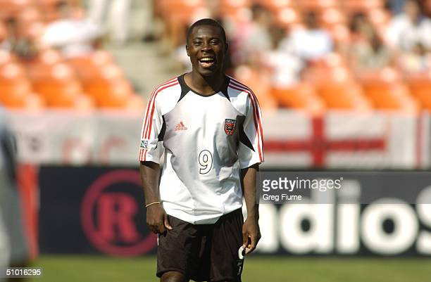 Forward Freddy Adu of D.C. United reacts during the game against the Chicago Fire at RFK Stadium on April 24, 2004 in Washington, DC. The Fire won...