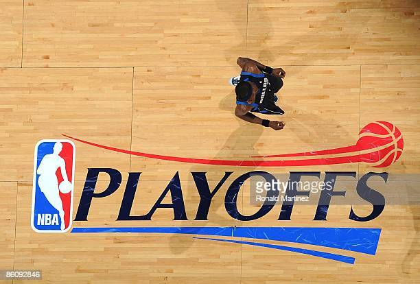 Forward Josh Howard of the Dallas Mavericks during play with the San Antonio Spurs in Game Two of the Western Conference Quarterfinals during the...