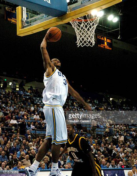 Forward Josh Shipp of the UCLA Bruins in a 88 to 58 victory over the Long Beach State 49ers on November 28 2006 at Pauley Pavillion in Westwood...