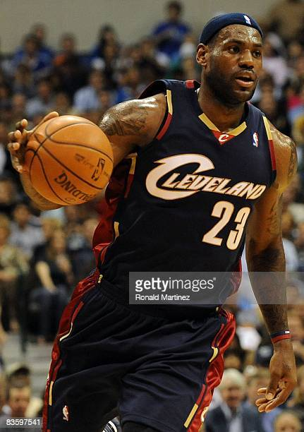 Forward LeBron James of the Cleveland Cavaliers during play against the Dallas Mavericks on November 3, 2008 at American Airlines Center in Dallas,...