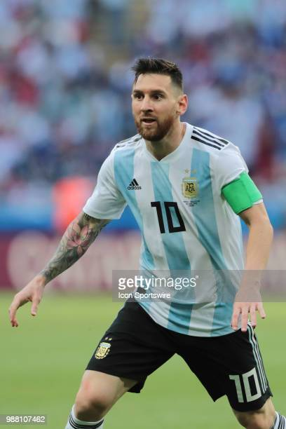 Forward Leonel Messi of Argetina National team during the round of 16 match between France and Argentina at the FIFA World Cup 2018 at Kazan Arena in...