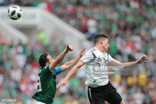 forward Marco Fabian of Mexico and midfielder Julian Draxler of Germany during a Group F 2018 FIFA World Cup soccer match between Germany and Mexico...
