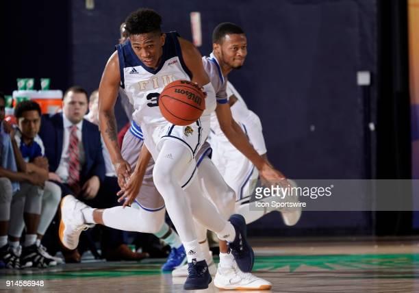 FIU forward Michael Douglas plays during a college basketball game between the Louisiana Tech University Bulldogs and the Florida International...