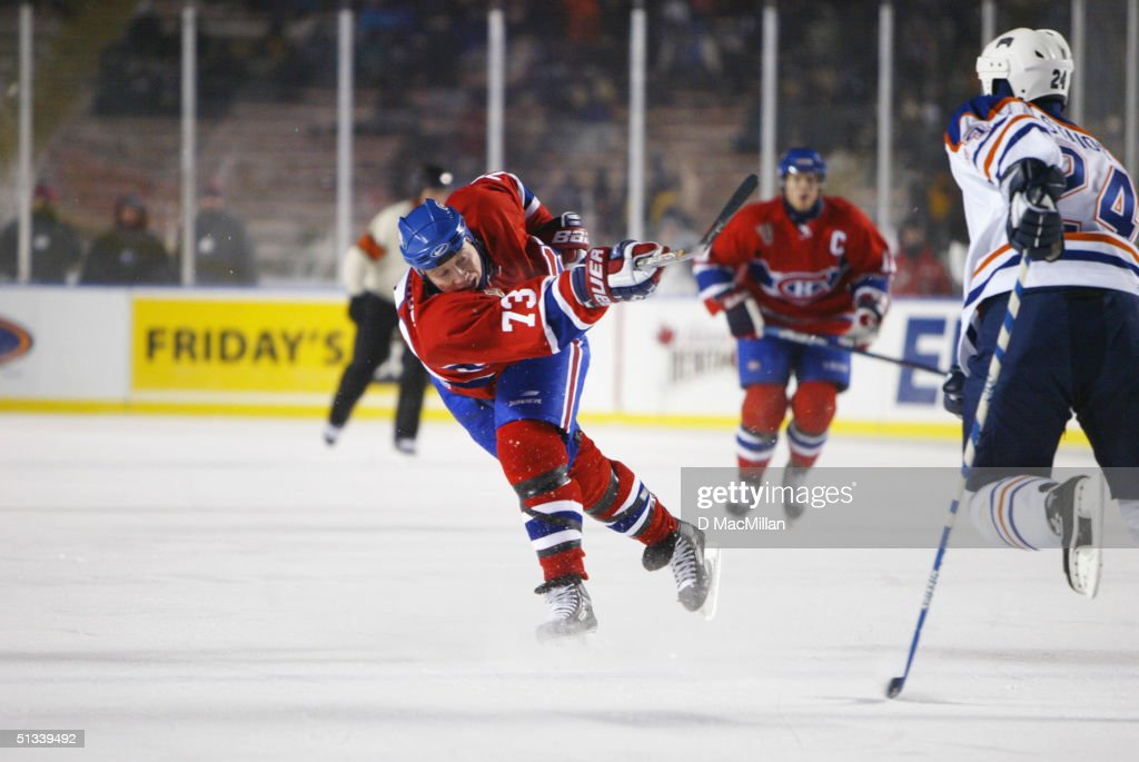 Canadiens v Oilers : News Photo