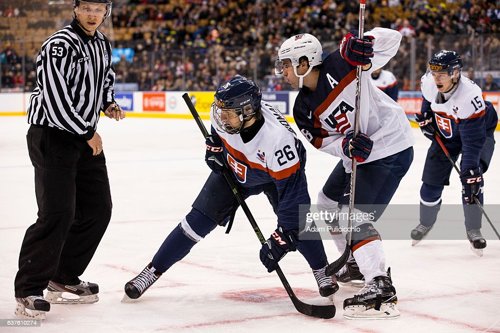 Slovakia v United States - 2017 IIHF World Junior Championship : News Photo